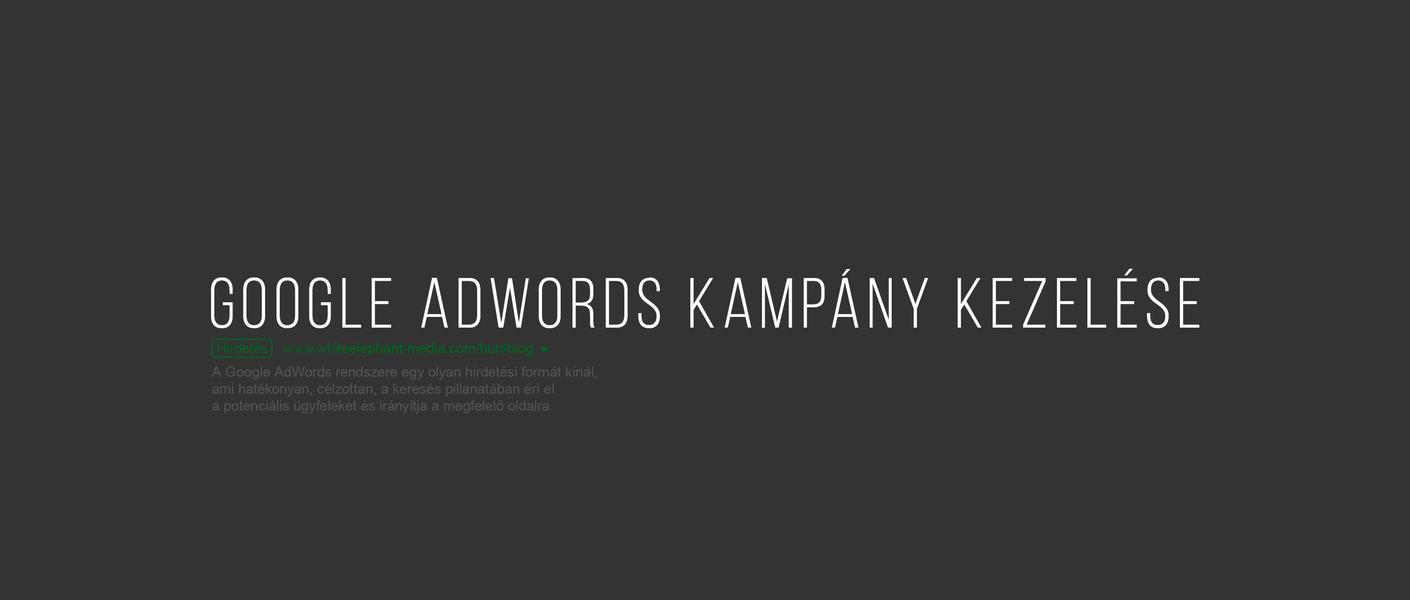 Google Ads kampány kezelése
