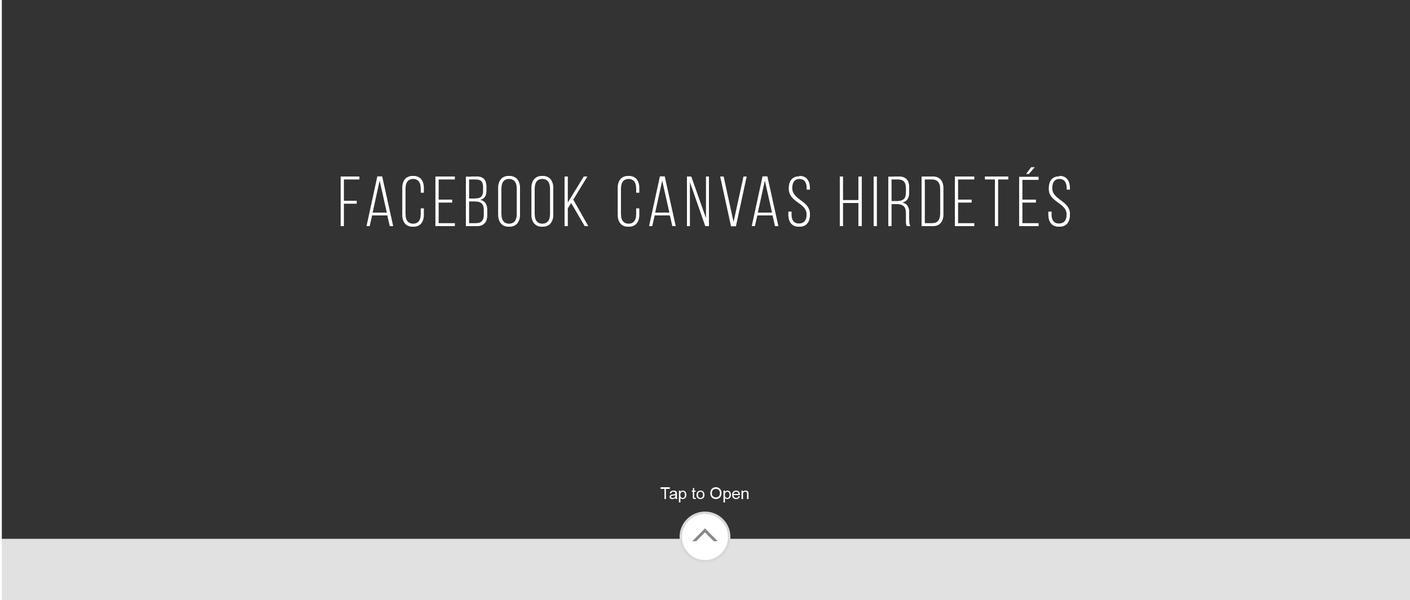 Facebook canvas hirdetés