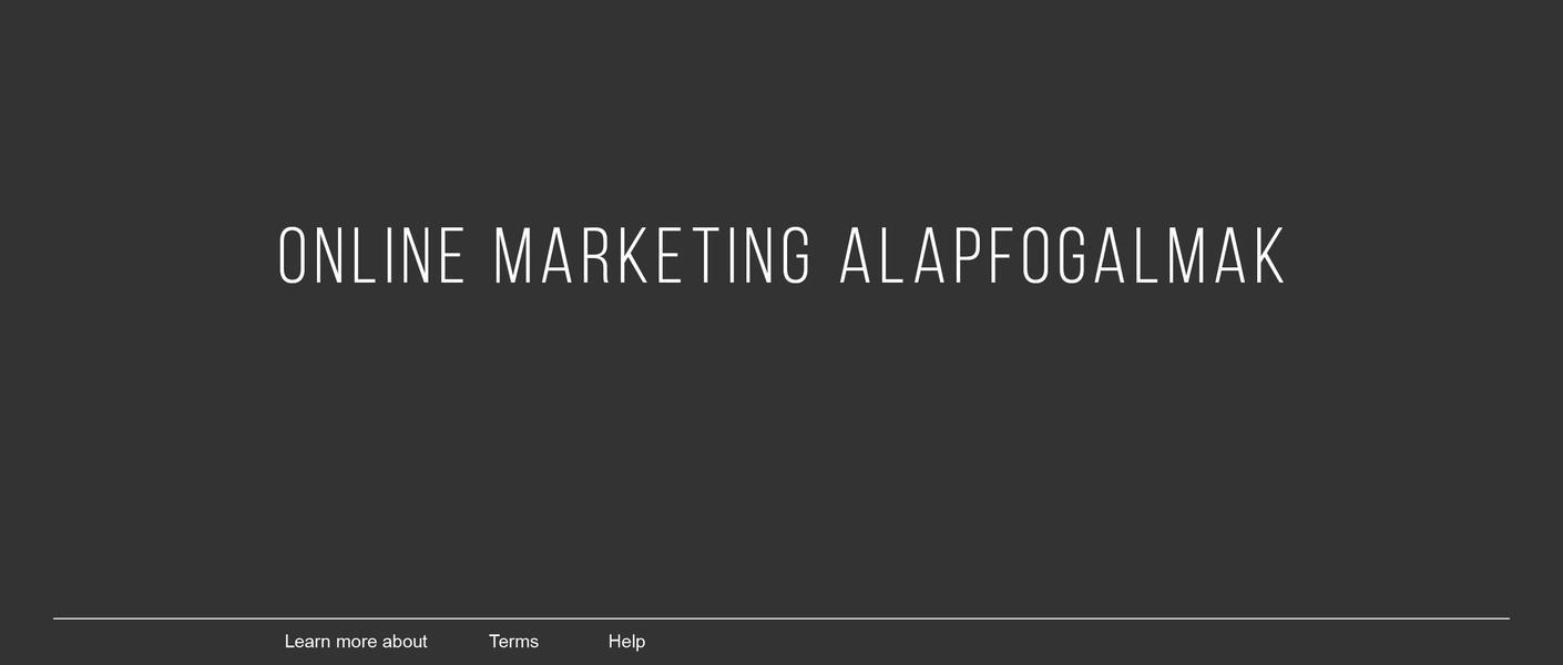 Online marketing alapfogalmak